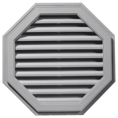 32 in. Octagon Gable Vent in Gray